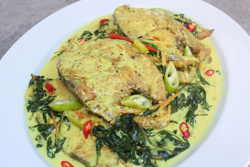 King Mackerel Halang Halang (Visayan Spicy Mackerel Stewed in Coconut Milk)