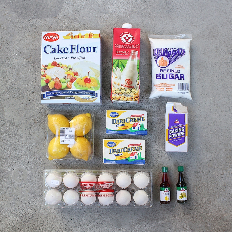 Lemon Sunshine Cake Ingredients