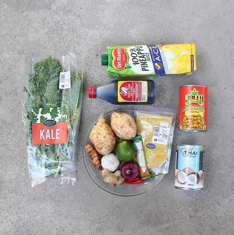 Vegan Turmeric, Chickpea, and Sweet Potato Stew Ingredients