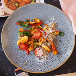 Potato Gnocchi with Red & Yellow Peppers