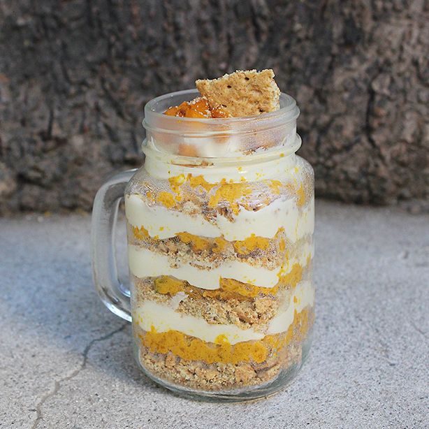 Deconstructed Pumpkin Pie in a Jar