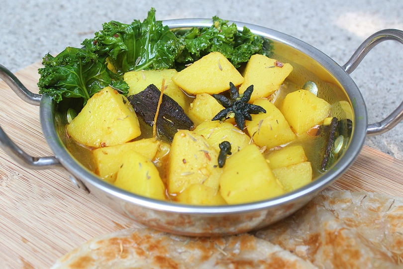 Aloo Kadhi (Indian Potato Curry)