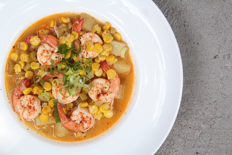Cayenne Shrimp & Corn Chowder