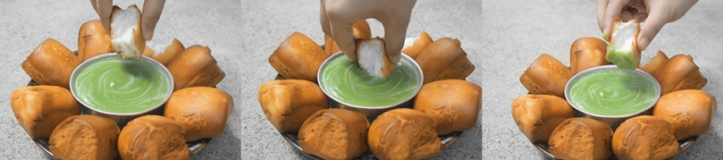 Kaya (Malaysian Pandan Coconut Egg Jam) with Fried Mantou