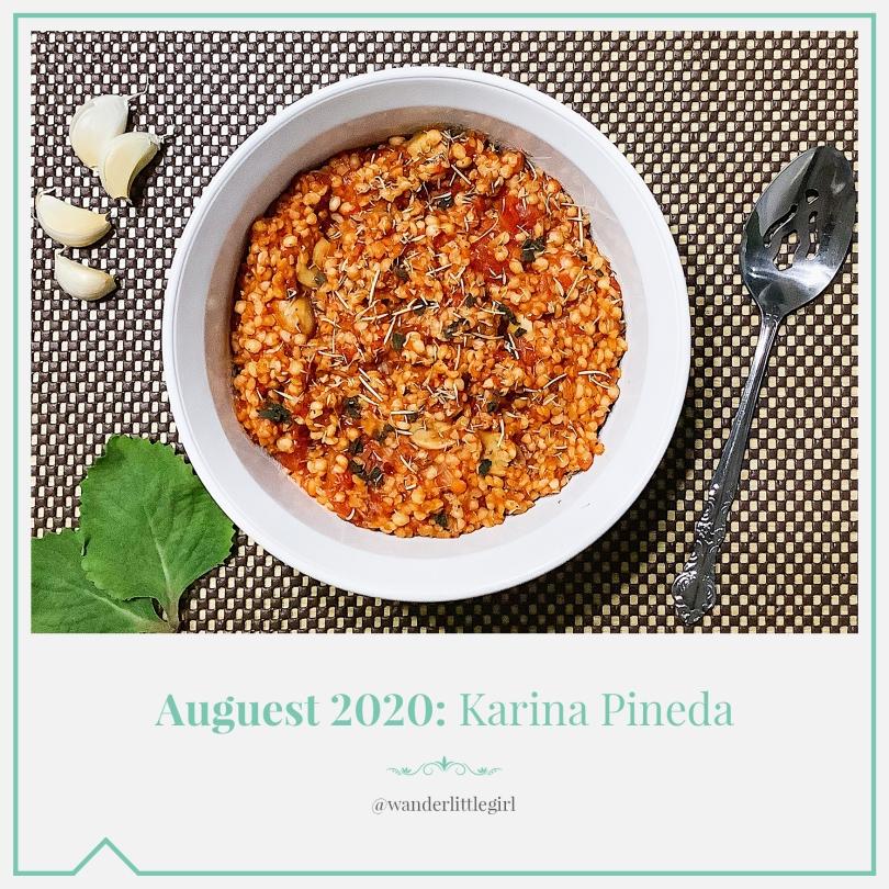 Auguest 2020: Karina Pineda