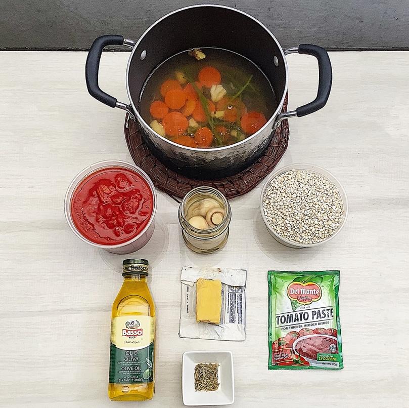 Adlai Tomato Risotto Ingredients
