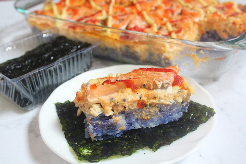 Magic Salmon Sushi Bake