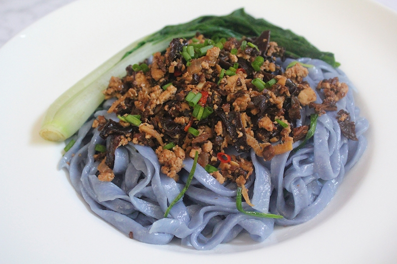 Stir-fried Handmade Noodles with Spicy Tofu & Mushroom Mince