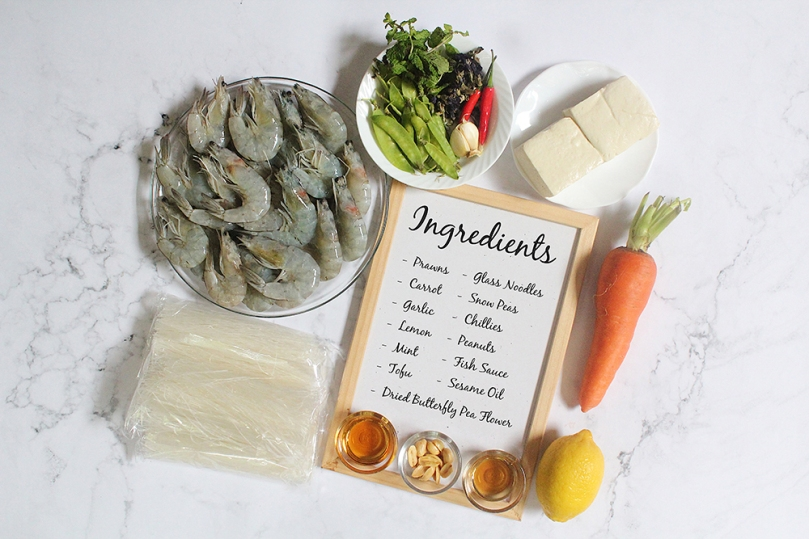 Magic Vietnamese-style Glass Noodle Salad Ingredients