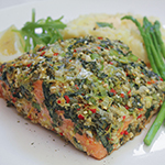 Herb & Caper-crusted Salmon