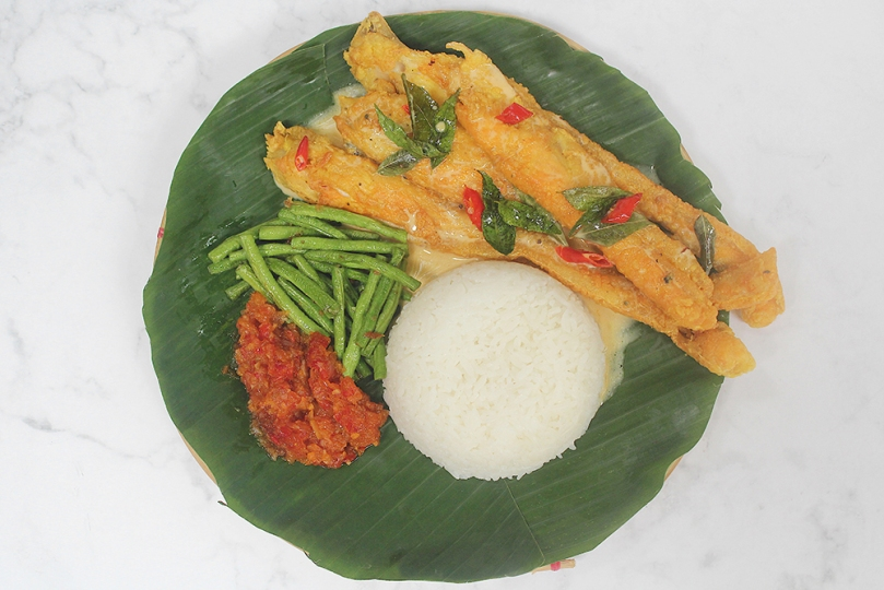 Nasi Katok with Buttermilk Salmon