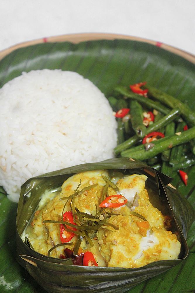 Amok Trei អាម៉ុកត្ (Steamed Fish Curry)