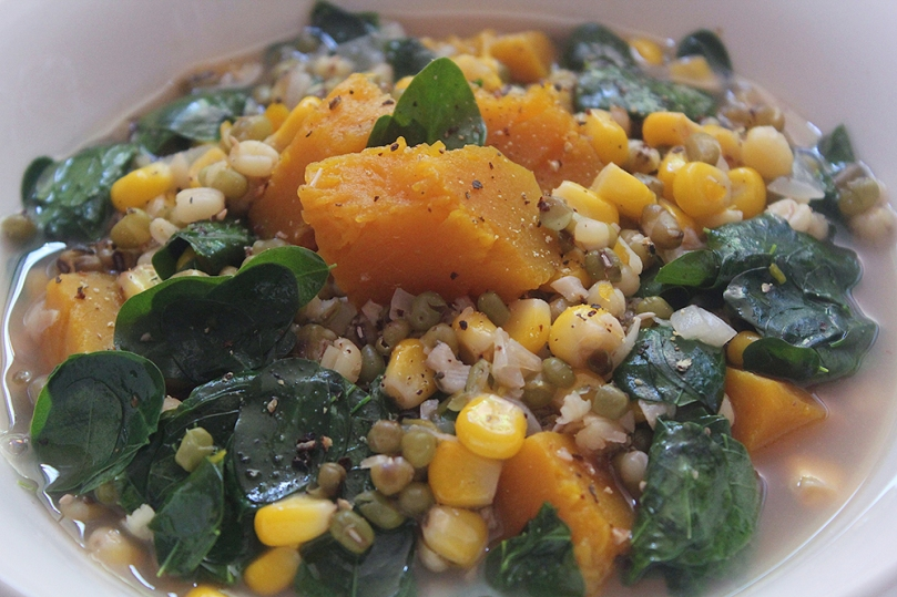 Batar Da'an (Pumpkin, Corn, and Mung Bean Stew)
