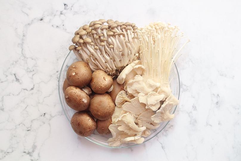 Spicy Mushroom Adobo Ingredients