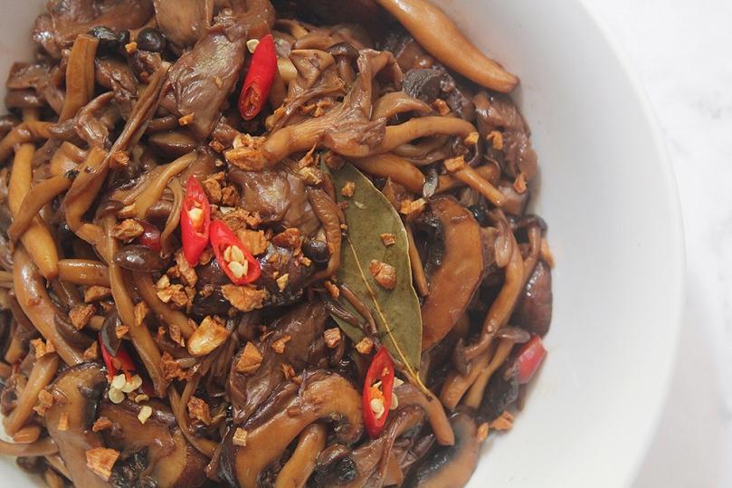 Spicy Mushroom Adobo