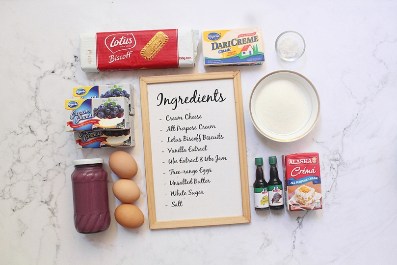 Halo-Halo Cheesecake Ingredients