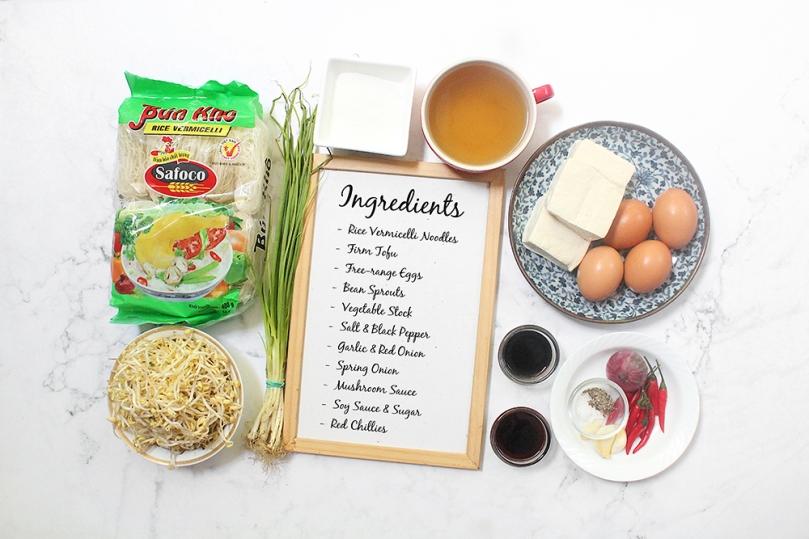 Khua Mee (Fried & Caramelised Rice Noodles) Ingredients