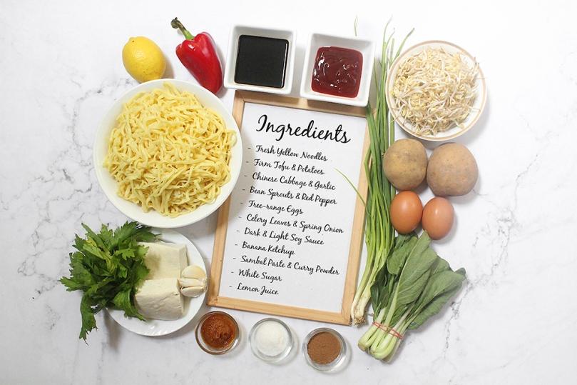 Mee Goreng Mamak (Mamak-style Stir-Fried Noodles) Ingredients