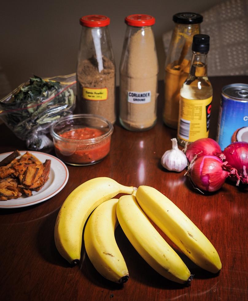 Banana Peel Curry Ingredients