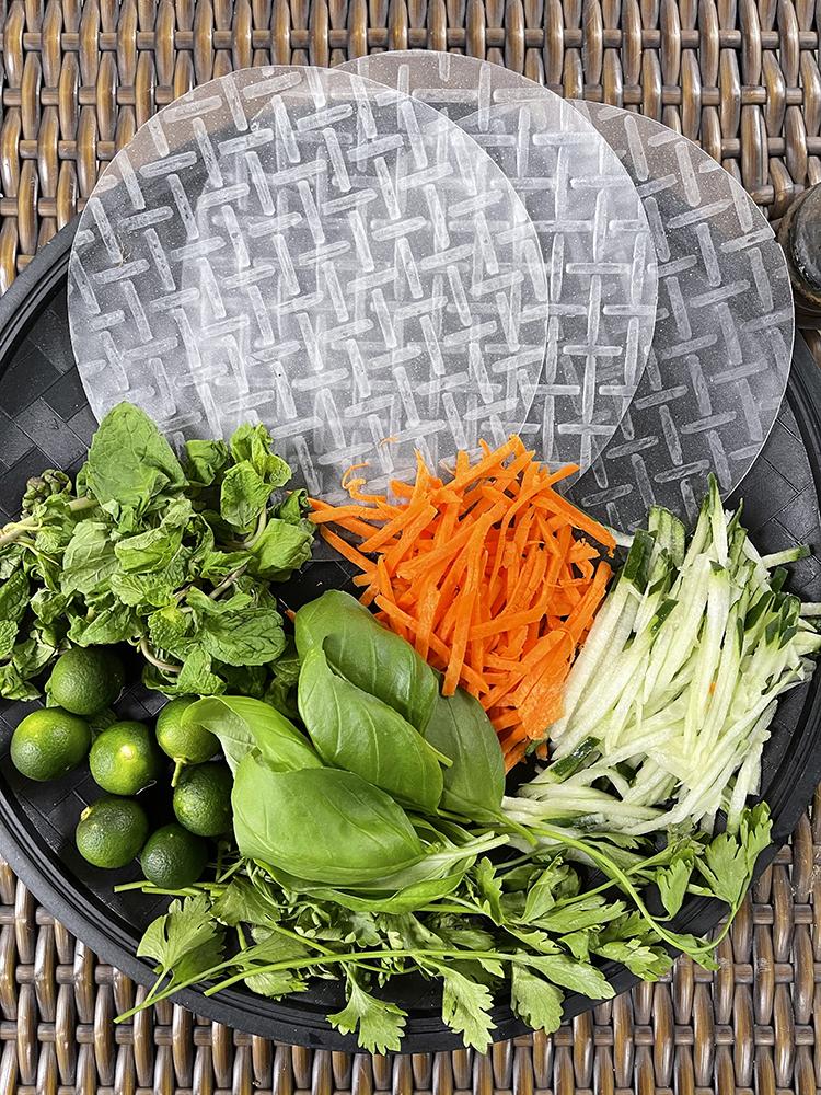 Vietnamese Rice Paper 3 Ways Main Ingredients