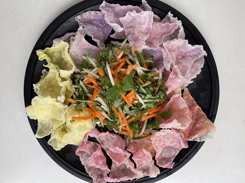 Vietnamese Rice Paper 3 Ways - Rice Paper Nacho Salad