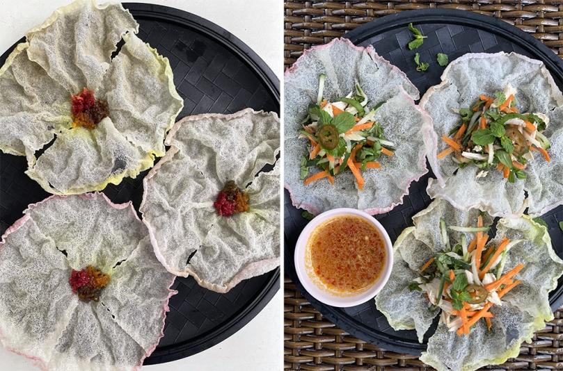 Vietnamese Rice Paper 3 Ways - Vietnamese Salad in Rice Paper Flower Cups