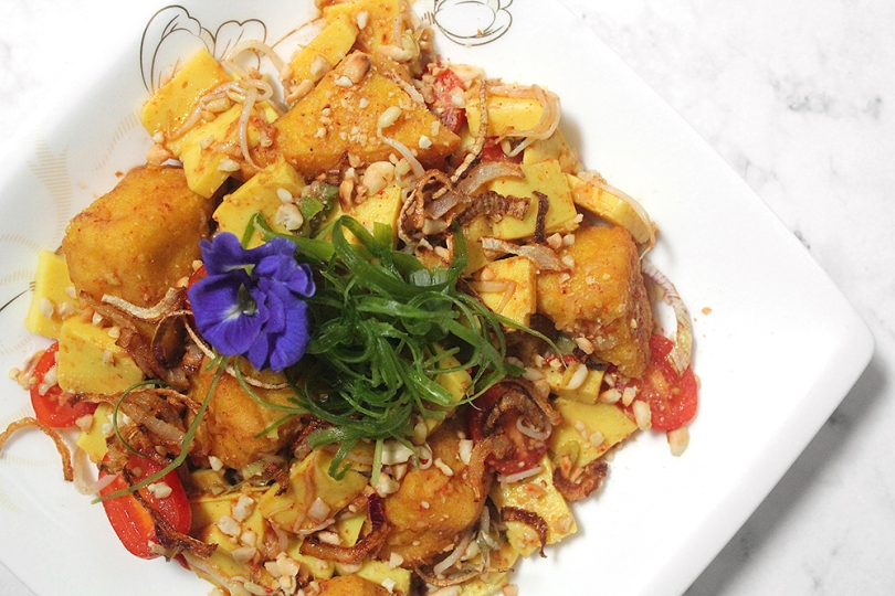 Tohu Thoke (Chickpea Tofu Salad)
