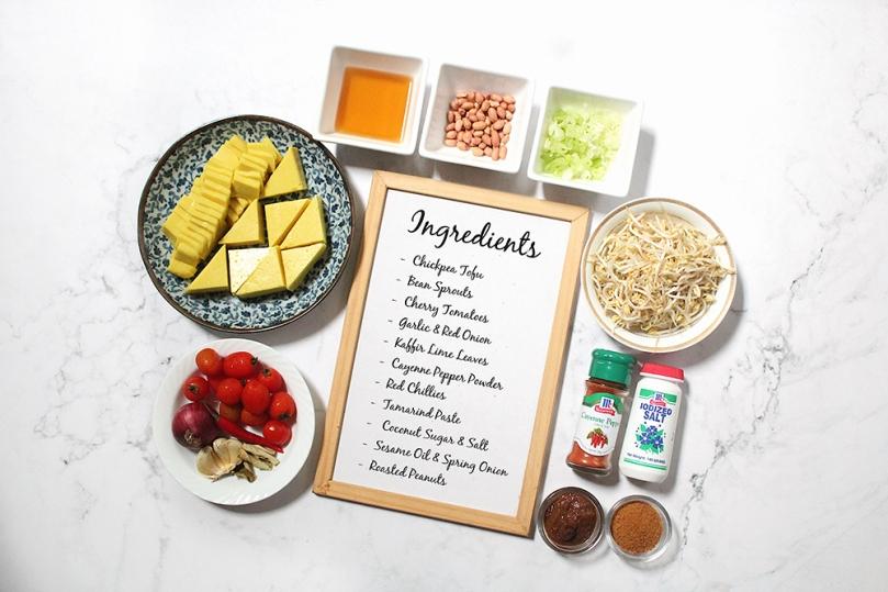 Tohu Thoke (Chickpea Tofu Salad) Ingredients